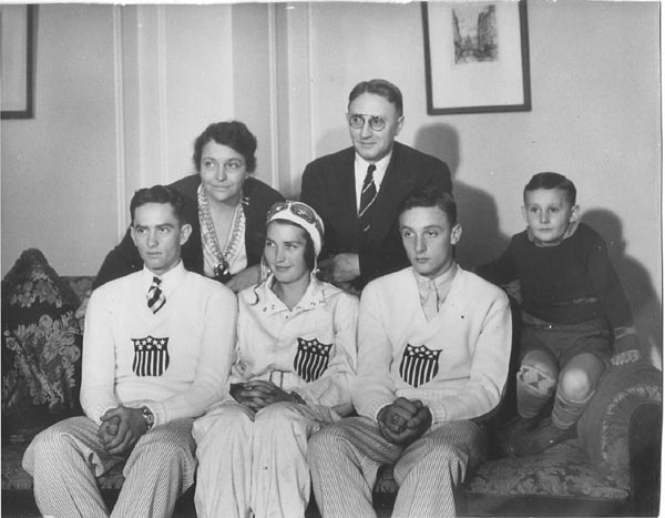 From left to right:  Rupert Jr., Loretta, Mary Irene, Rupert Sr., Raymond, and Byron.